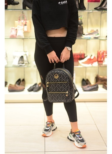 Versace 16V69 Italia 5182 Sıyah Kadın Sırt Çanta Siyah